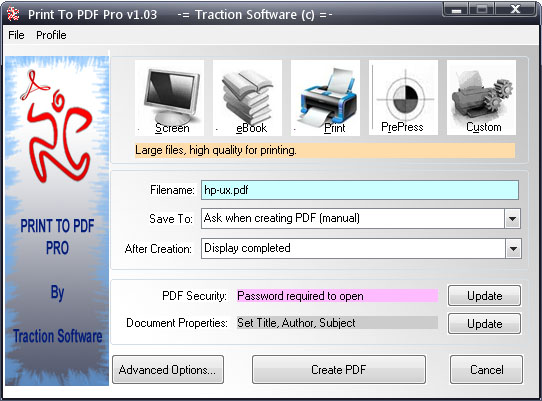 Print To PDF Pro full screenshot